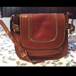 MICHAEL KORS Large messenger bag in COGNAC